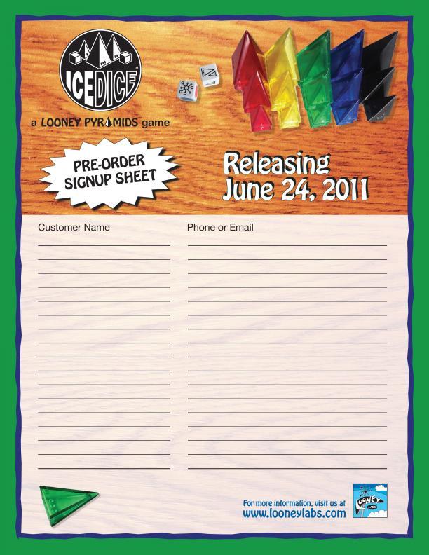 IceDice SignUp Sheet – Signup Sheets